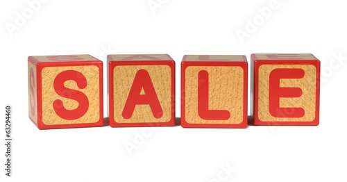 Sale - Colored Childrens Alphabet Blocks.