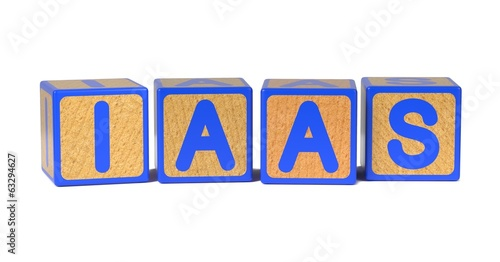 IAAS - Colored Childrens Alphabet Blocks.