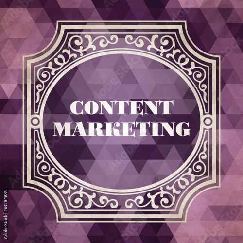 Content Marketing Concept. Vintage design.