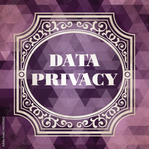 Data Privacy Concept. Vintage design.