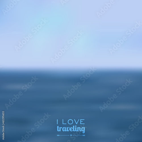 Vector blurred landscape background