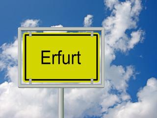 Erfurt - Ortsschild