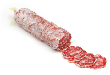 Salami Sausage Sliced