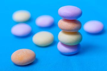 Caramelos de colores pastel