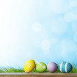 canvas print picture - Easter eggs i