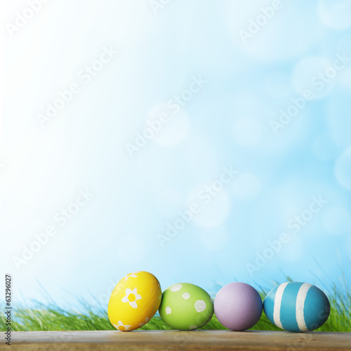 canvas print picture Easter eggs i