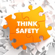 Think Safety on Orange Puzzle.