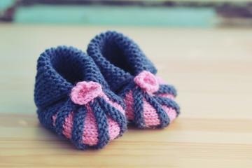 Handmade baby socks