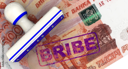 Bribe. Stamp and imprint. Ruble