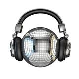 Fototapety Headphone disco ball