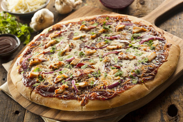 Homemade Barbecue Chicken Pizza