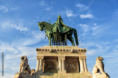 Statue of Stephen I of Hungary at Fishermen's Bastionl, Budapest
