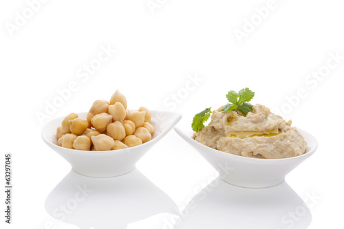 Chickpeas and hummus.