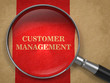 Customer Management Concept - Magnifying Glass.