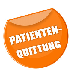 Label Patientenquittung orange - g756
