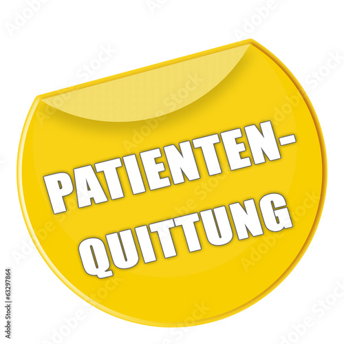 Label Patientenquittung gelb - g757