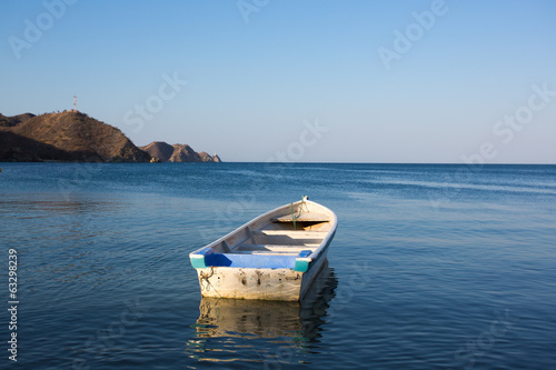 Fishing boats anchored in Taganga bay