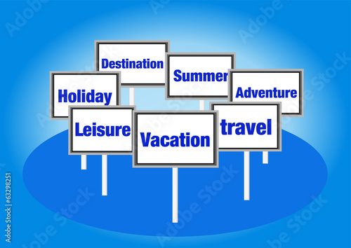 Vacation signs