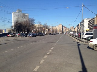 Wide city road, Moscow