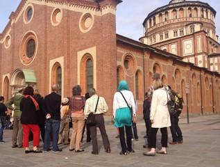 turiasti a Santa Maria delle Grazie - Milano