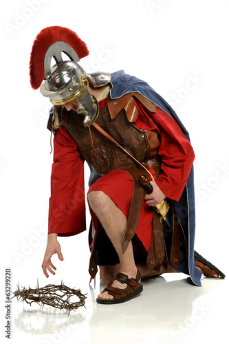 Roman Soldier Reaching For Crown of Thorns