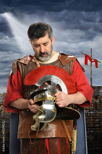 Roman Soldier Praying