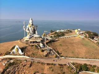 statue god Shiva. Murudeshwar