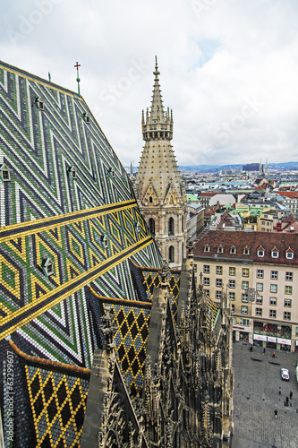 Vienna, Austria. View of the city from a survey platform
