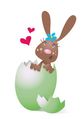 Osterhäsin,Hase im Ei,Herz,Überraschungsei,frei