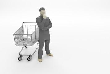 Cosa acquistare - crisi - carrello spesa vuoto