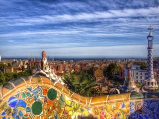 gaudi park in Barcelona