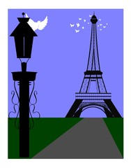 lamppost in Paris