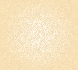 gentle peach seamless wedding floral  background
