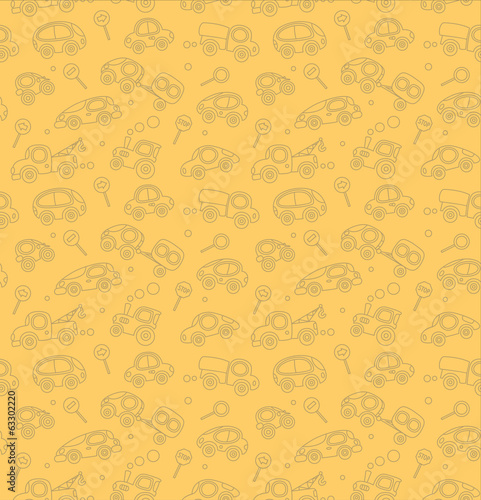 Cars. Seamless pattern.