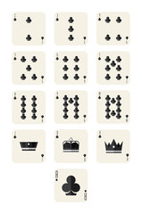clubs playing card set