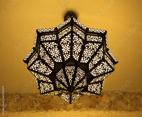Traditional oriental lamp in Doha, Qatar, Middle East