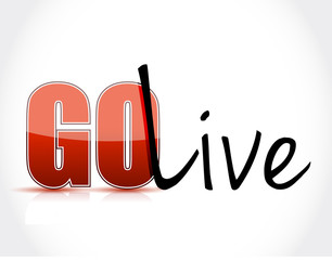 go live sign text