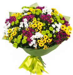 Bouquet of colorful asters