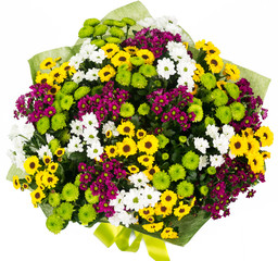 Bouquet of asters and daisies