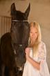 le femme et le cheval