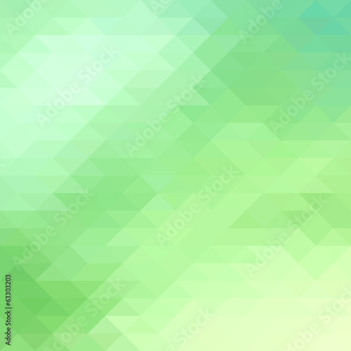 Green geometric background. Vector illustration.