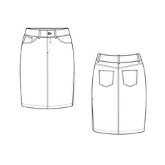 Pencil Skirt illustration
