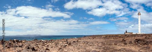 Faro de pechiguera landscape, lanzarote, canary islands