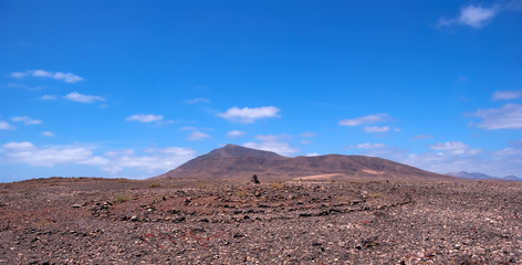 rock pile and stone circle in lanzarote