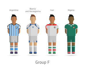 Football teams. Group F, Argentina, Bosnia and Herzegovina, Iran
