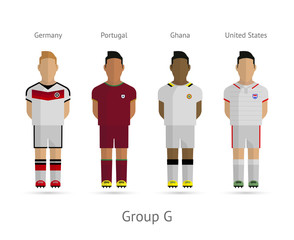 Football teams. Group G - Germany, Portugal, United States