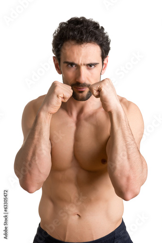 Man Ready to Fight