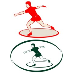 Athletics. Discus throwing-1