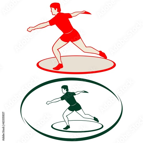 Athletics. Discus throwing-1