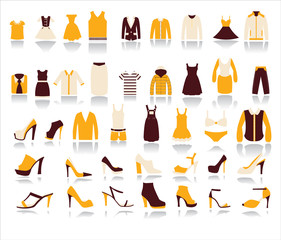 Shopping and Sale vector icons on white background